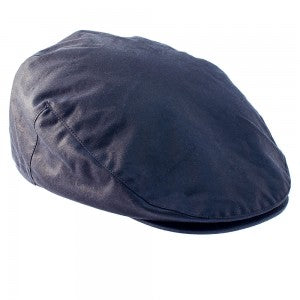 Buchanan Wax Flat Cap - Navy
