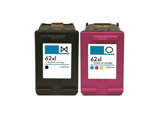 Remanufactured HP 62XL Ink Cartridges Multipack