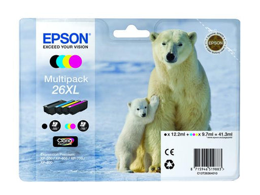 Original Epson T26XL (T2636) Ink Cartridges Multipack