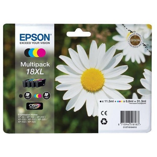 Original Epson T18XL (T1816) Ink Cartridges Multipack
