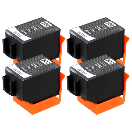 Compatible Epson 202XL (T02G1) High Capacity Black Ink Cartridge Quadpack