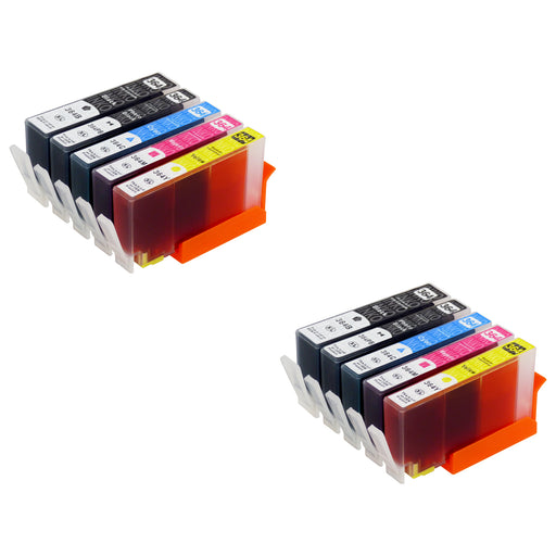 Compatible HP 364XL (N9J74AE) High Capacity Ink Cartridge Multipack Including Photo Black (2 Sets)