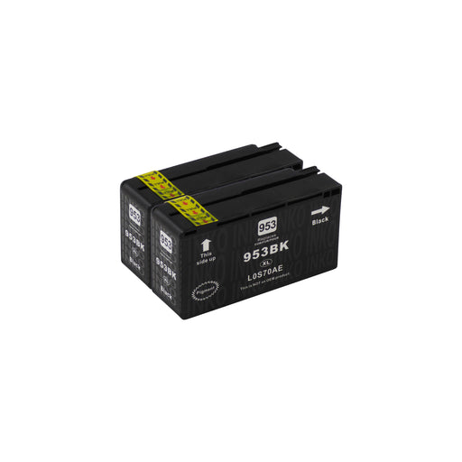 Compatible HP 953XL (L0S70AE) High Capacity Black Ink Cartridge Twinpack