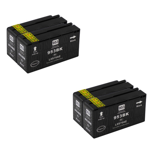 Compatible HP 953XL (L0S70AE) High Capacity Black Ink Cartridge Quadpack