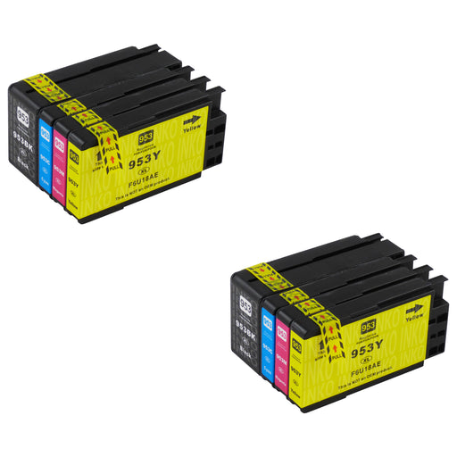 Compatible HP 953XL (3HZ52AE) High Capacity Ink Cartridge Multipack (2 Sets)