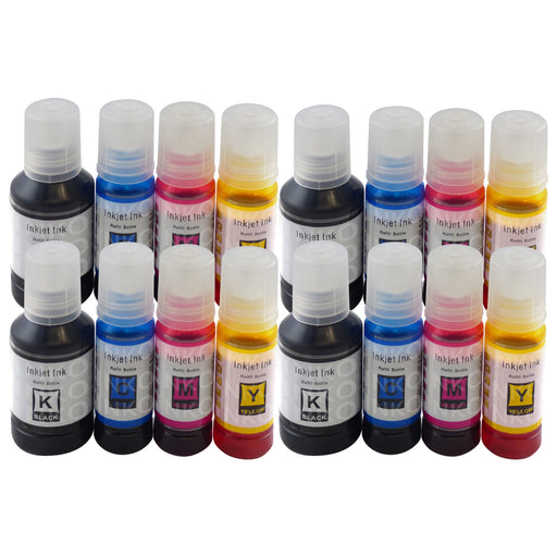 Compatible Epson Ecotank High Capacity Multipack Ink Bottles for 102, 106, 104, 105 T664, T774 (4 Sets)