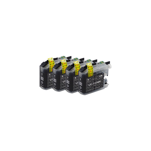 Compatible Brother LC123XL Black Ink Cartridge Quadpack