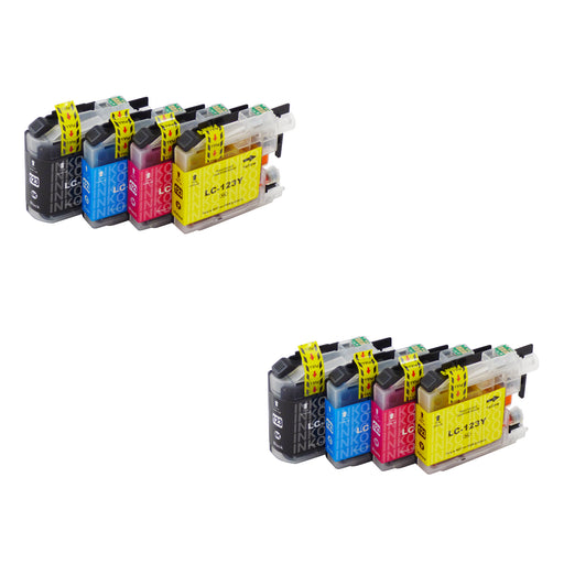 Compatible Brother LC123XL Ink Cartridges Multipack (2 Sets)