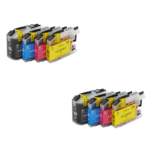 Compatible Brother LC127XL/LC125XL Ink Cartridges Multipack (2 Sets)