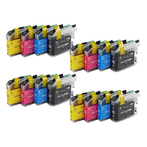 Compatible Brother LC223XL Ink Cartridges Multipack (4 Packs)