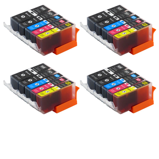 Compatible Canon PGI-520/CLI-521XL High Capacity Ink Cartridge Multipack (4 Sets)