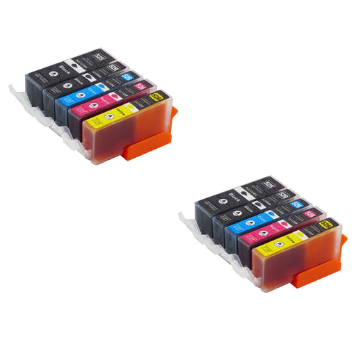 Compatible Canon PGI-525/CLI-526XL High Capacity Ink Cartridge Multipack (2 Sets)