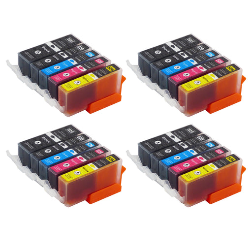 Compatible Canon PGI-525/CLI-526XL High Capacity Ink Cartridge Multipack (4 Sets)