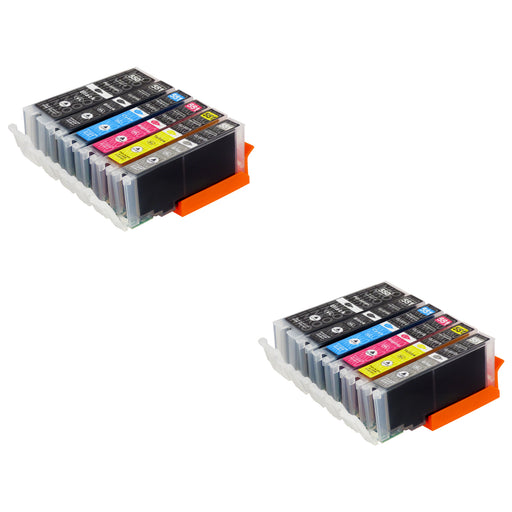 Compatible Canon PGI-550XL/CLI-551XL High Capacity Ink Cartridge Multipack Including Grey (2 Sets)
