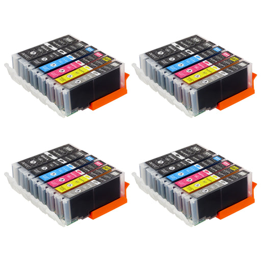 Compatible Canon PGI-550XL/CLI-551XL High Capacity Ink Cartridge Multipack Including Grey (4 Sets)