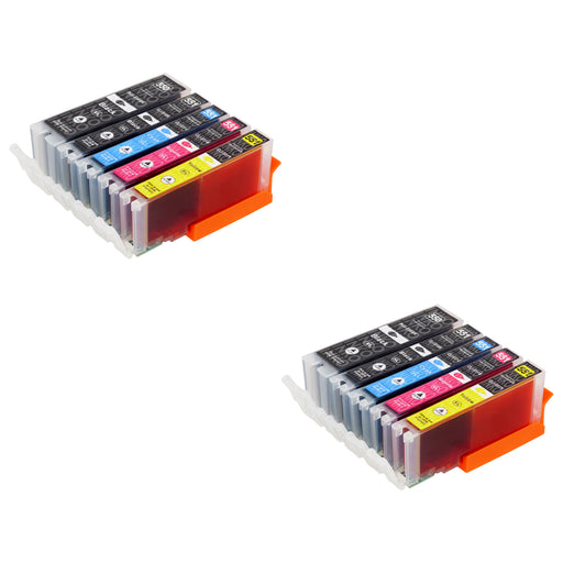 Compatible Canon PGI-550XL/CLI-551XL High Capacity Ink Cartridge Multipack - (2 Sets)