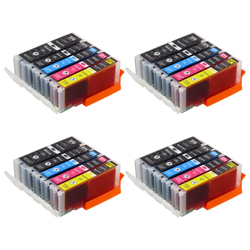 Compatible Canon PGI-570XL/CLI-571XL (0372C004) High Capacity Ink Cartridge Multipack (4 Sets)