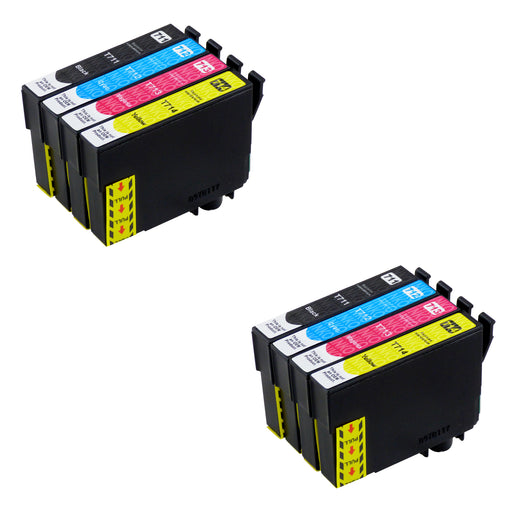 Compatible Epson T0715 High Capacity Ink Cartridge Multipack (2 Sets)