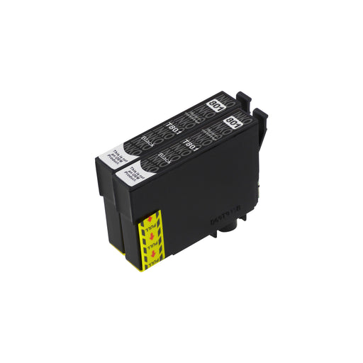 Compatible Epson T0801 High Cacpaity Black Ink Cartridge Twinpack