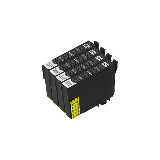 Compatible Epson T0801 High Cacpaity Black Ink Cartridge Quadpack