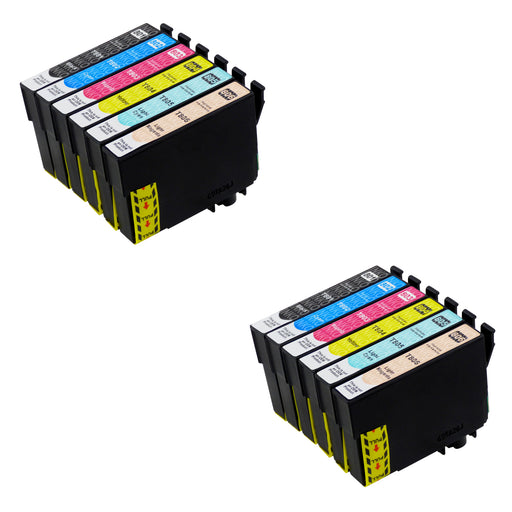 Compatible Epson T0807 High Capacity Ink Cartridge Multipack (2 Sets)