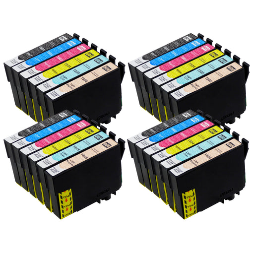 Compatible Epson T0807 High Capacity Ink Cartridge Multipack (4 Sets)