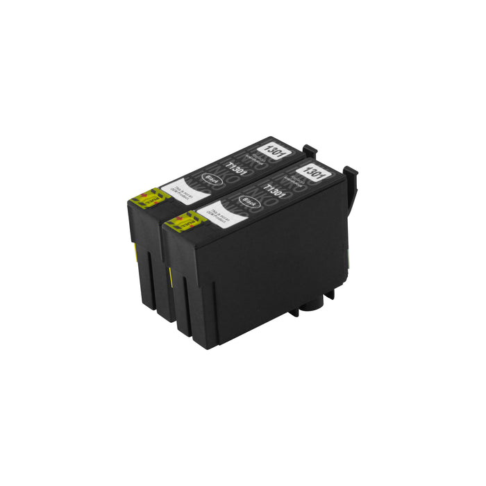 Compatible Epson T13XL (T1301) High Capacity Black Ink Cartridge Twinpack