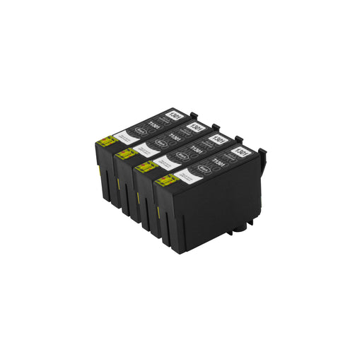 Compatible Epson T13XL (T1301) High Capacity Black Ink Cartridge Quadpack