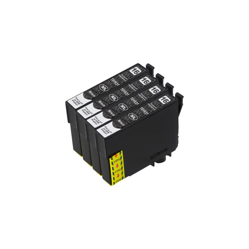 Compatible Epson T16XL (T1631) High Capacity Black Ink Cartridge Quadpack