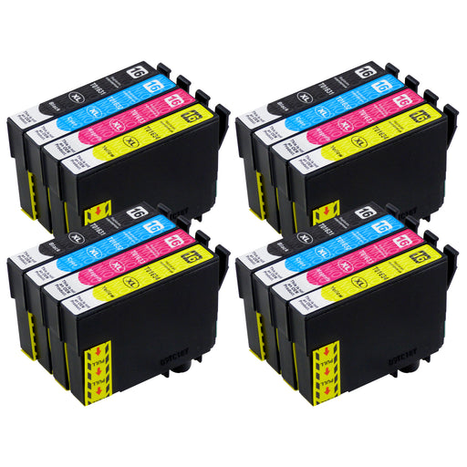 Compatible Epson T16XL (T1636) High Capacity Ink Cartridge Multipack (4 Sets)