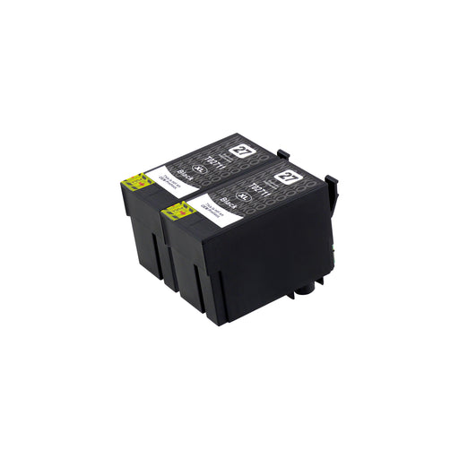 Compatible Epson T27XL (T2711) High Capacity Black Ink Cartridge Twinpack