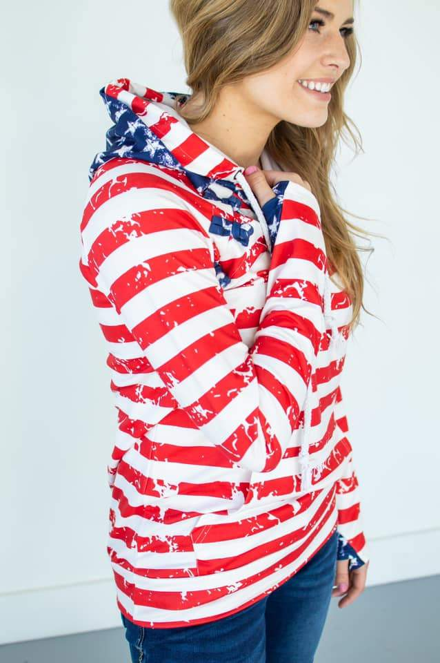 America The Beautiful Hoodie (Nursing Friendly Option)