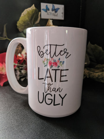 15oz Feisty Sayings White Ceramic Mug