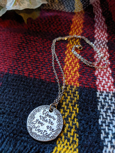 Hand Stamped Charm Necklace