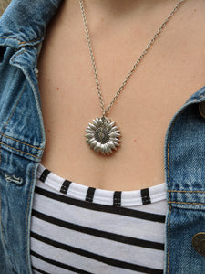 Sassy Sunflower Charm Necklace