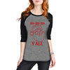 """HO HO HO Y'all"" Women's Raglan Top"