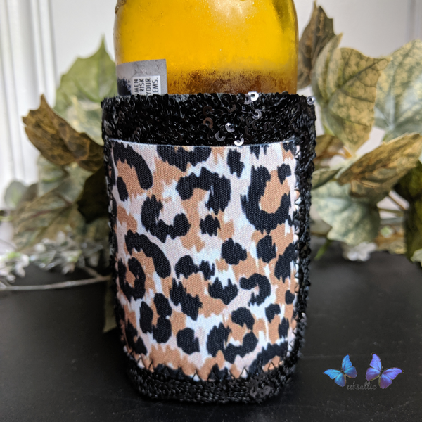 Sequin Can Cooler with Pocket