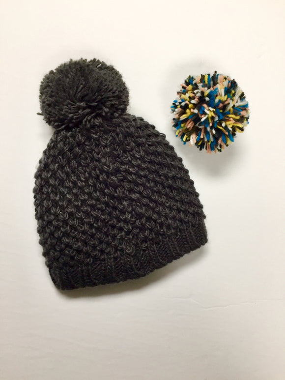 Bedford Road Knitted Beanie w/ Pom