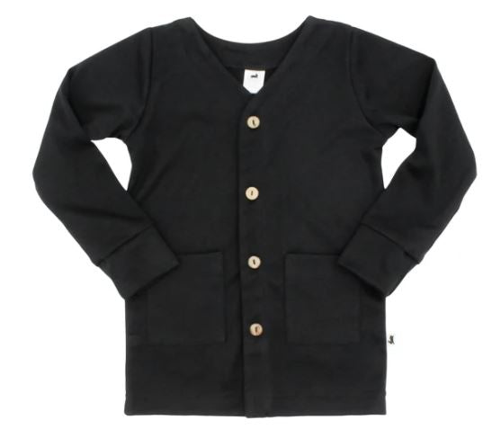 Bamboo Cotton Cardigan - Black