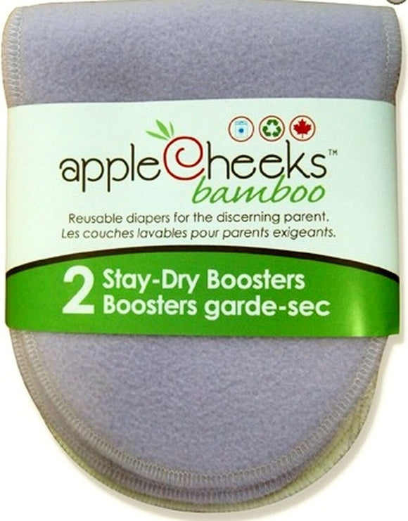 Apple Cheeks Booster (D) - Stay Dry Bamboo 2pk
