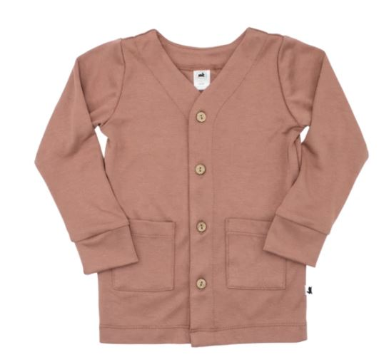 Bamboo Cotton Cardigan - Terracotta