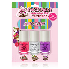 Piggy Paint Nail Polish Mini Scented 3pk w/ Nail File