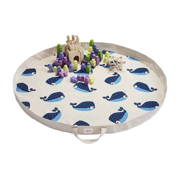 3 Sprouts Play Mat Bag (D) - Whales