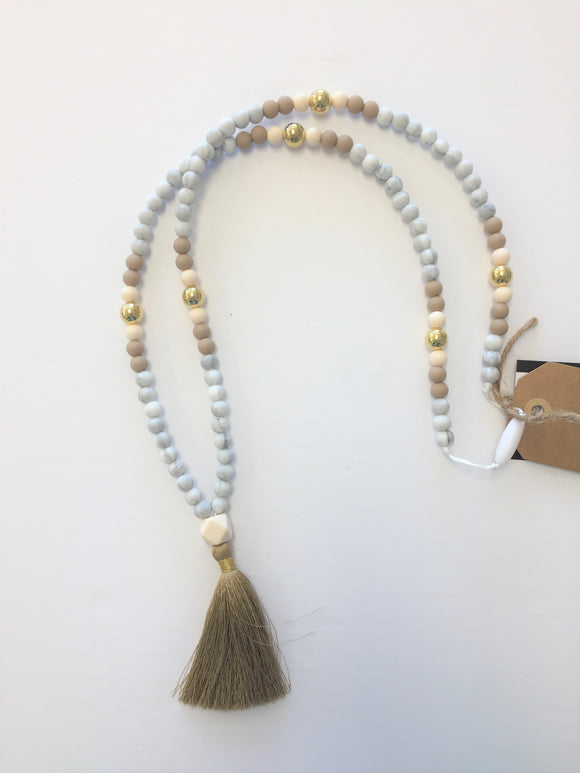 Wee Bears Mala Necklace with Tassel