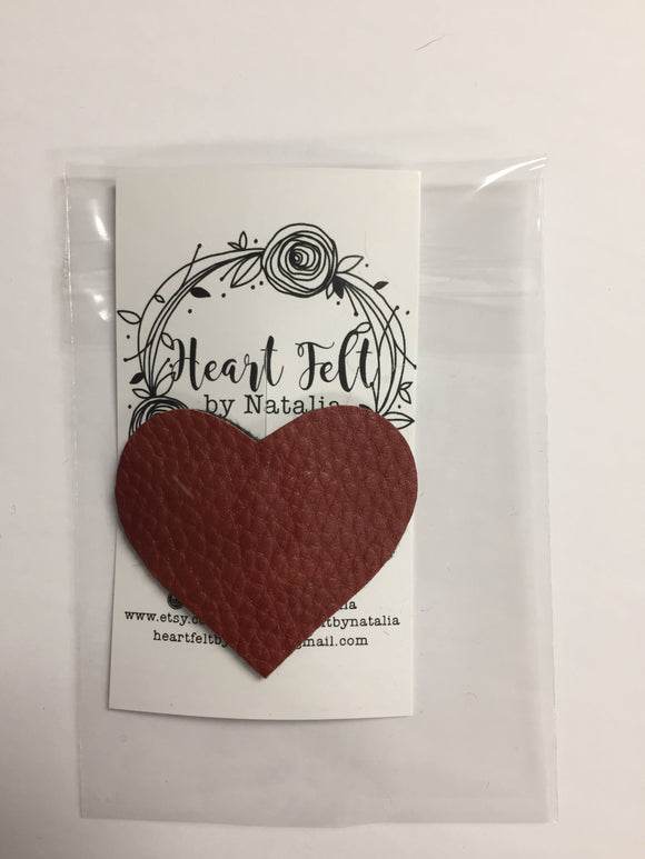 Heart Felt Snap Clip Vegan leather Heart