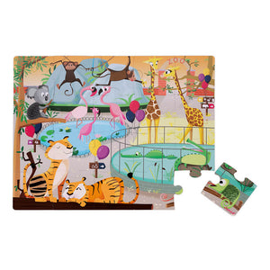 20pc Tactile Puzzle 'A Day at the Zoo'