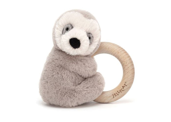 Jellycat Shooshu Wood Ring Sloth brown
