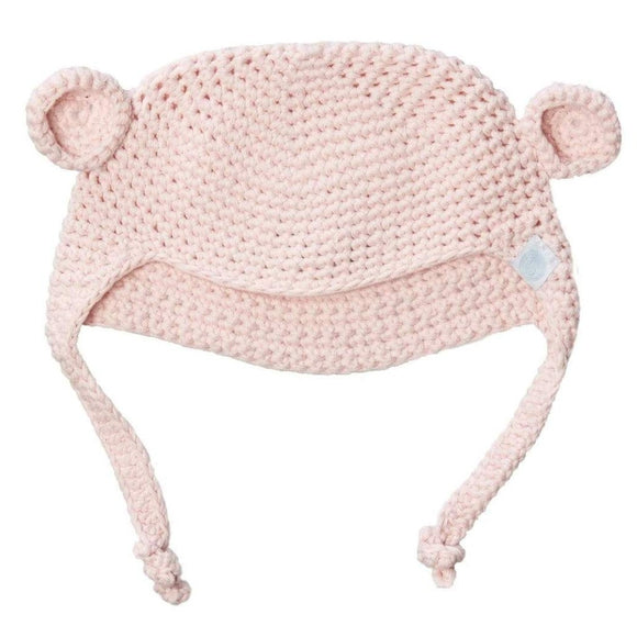 Beba Bean Crochet Bear Hat Pink