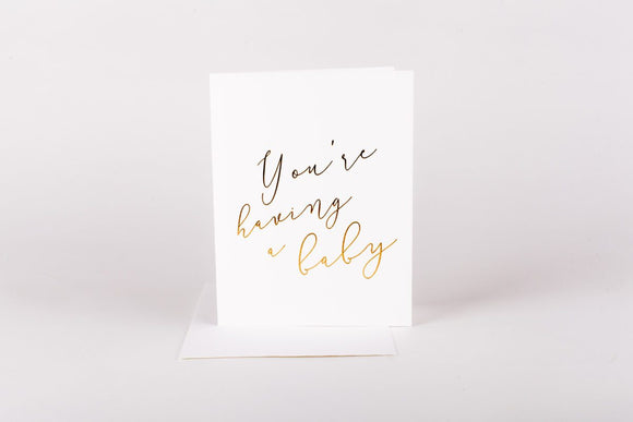 Wrinkle & Crease You're Having A Baby Card