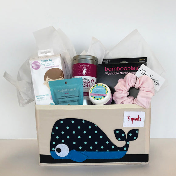 Cheeky Monkey New Mom Caddy Gift Basket